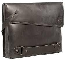 black graphite grey leather clutch bag