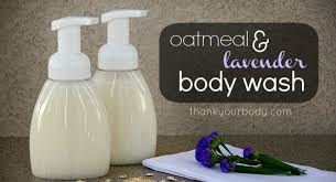 diy homemade body wash oatmeal infused