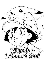 Pokemon Ash Kiest Pika Pokemon Kleurplaten Kleurplaat Com