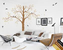 Nursery White Tree Wall Decals Wall Art Corner Tree Wall Decoration Kw006