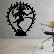 The Hindu God Of Destruction Shiva Wall Stickers Home Decor Indian Religion Hinduism Wall Decals Vinyl Indian Home Decor Olivia Decor Decor For Your Home And Office
