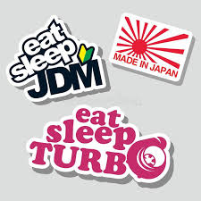Japanese Funny Sentences Set For Car Stickers Stock Vector Illustration Of Flag Graphic 107088526