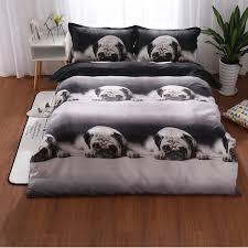 3d bedding set cute pug dog duvet cover