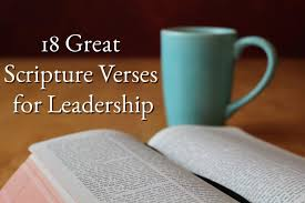 great scripture verses for leadership like a team