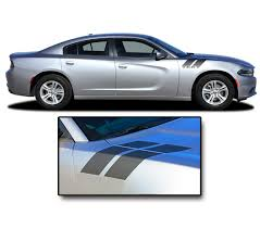 Recharge Double Bar 15 Dodge Charger Hood Decal To Fender Hash Mark Stripes Vinyl Graphic Fits 2015 2020 Moproauto Professional Vinyl Graphics And Striping