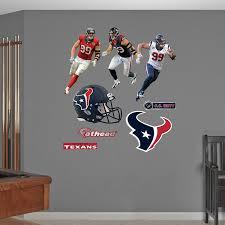 Nfl Houston Texans Jj Watt Hero Pack Real Big Wall Decals Amazon In Home Kitchen