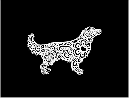 Henna Golden Retriever Dog Decal Fancy Custom Vinyl Car Truck Window L Customvinyldecals4u