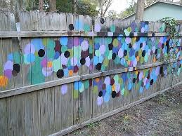 Painted Fence By Kris Carlson From Garden Fence Art Backyard Fence Decor Garden Mural
