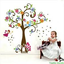 Fairy Tree Flowers Wall Stickers Art Decal Girls Bedroom Decor Nursery Wall Graphics Vinyl Wall Lettering Decals From Wwwonccc 8 04 Dhgate Com