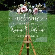 Wedding Welcome Decal Personalized Couples Names And Dates Vinyl Mirror Board Wall Sticker Removable Simple Wedding Decor G209 Wall Stickers Aliexpress