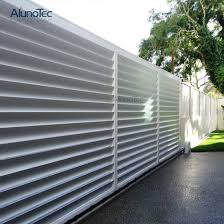 China Global Agent Outdoor Garden Fence China Anodized Louvre Fence Adjustable Louvre Fence