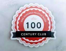 100 Peloton Rides Century Club Sticker Ebay