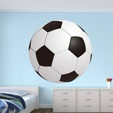 Soccer Bedroom Wall Graphic Large Soccer Ball Wallpaper Boys Room Soccer Sticker Personalized Soccer Monogram Sports Wall Decals Kids Room Wall Room Decals