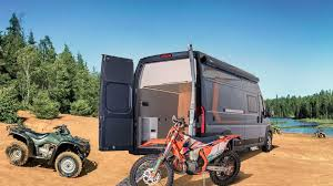 germans perfect the toy hauler motorhome
