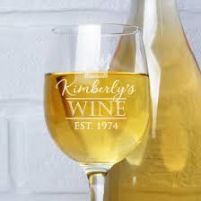 engraved birthday wine glasses
