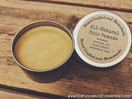 hair pomade with rosemary essential oil