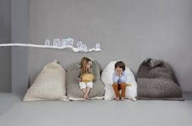 Hand Knit Beanbag Chairs Are The Stylish And Cozy Furniture You Need Bean Bag Chair Kids Kids Bean Bags Kids Room Inspiration