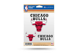 Chicago Bulls Window Decal Sticker Set Nba Officially Licensed Custom Sticker Shop