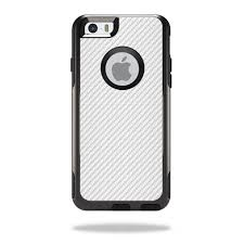Skin For Otterbox Commuter Iphone 6 Plus Case White Carbon Fiber Mightyskins Protective Durable And