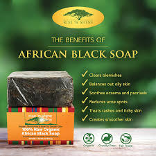 raw african black soap with coconut oil