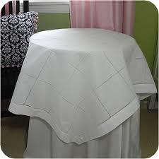 ladder hemstitch linen table cloth