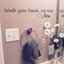 Wash Your Hands Use Soap Love Mom Vinyl Wall Decal By Wild Eyes Signs