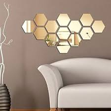 hexagon mirror tiles simple ideas