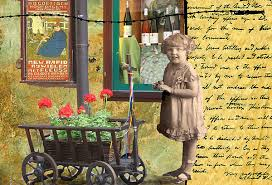 Girl And Wagon Greeting Card for Sale by Myrna Jackson