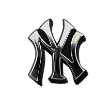 New York Yankees Logo 3d Chrome Auto Decal Sticker New Truck Or Car Hub City Sports
