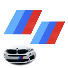 Ijdmtoy 2 7x7 Iconic M Performance Tri Color Decal Stickers For Bmw Side Skirt Bumper Hood Cosmetic Decoration Made W Reflective Material Walmart Com Walmart Com