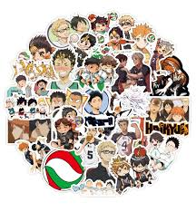 50pcs Set Haikyuu Stickers Japanese Anime Sticker Volleyball For Decal On Guitar Suitcase Laptop Phone Fridge