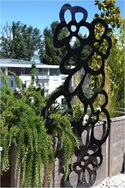 green wall trellis painted metal