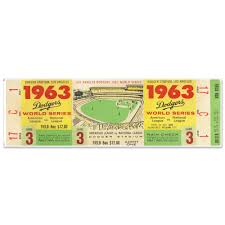 Mustang Products La Dodgers 1963 Game 3 World Series Ticket Wall Decal Wayfair