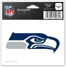 Amazon Com Seattle Seahawks 3x3 Auto Window Cling Decal Nfl Sports Outdoors