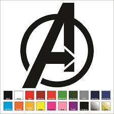 Oracal Avengers Large Decal Sticker Choose Color Size Stark Iron Man Shield