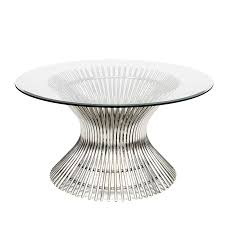 powell stainless steel coffee table
