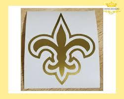 Gold Fleur De Lis Vinyl Decal Fleur De Lis Sticker Fleur De Etsy