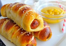 homemade pretzel dogs the food charlatan
