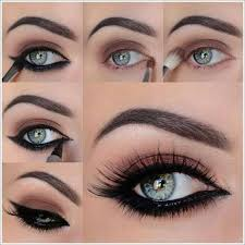 fashionup black smokey eye making step