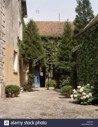 courtyard of old traditional french