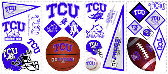 York Wallcovering Tcu Horned Frogs Wall Decals Wallpaper
