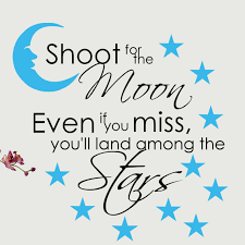 Decalthewalls Shoot For The Moon Vinyl Wall Decal Reviews Wayfair