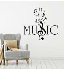 Vinyl Wall Decal Music Key Musical Notes Listening Melody Stickers Mural G3593 Ebay