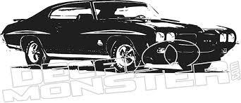 Pontiac Gto Car Silhouette Wall Decal Dm Decalmonster Com