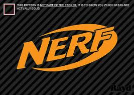 2x Nerf Sticker Decal Die Cut 2 Inch Ebay