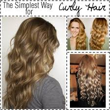 hair curly quickly without heat