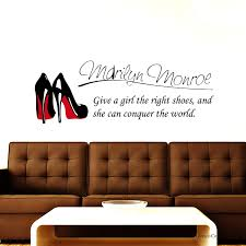 Amazon Com The Banana Astronaut Marilyn Monroe Wall Decal Stickers Decor Quote Shoe Easy Removable Sticker Kitchen Dining