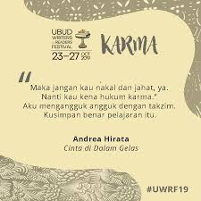 ubud writers readers festival on like many of our