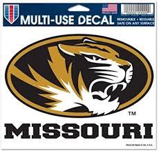 Amazon Com Wincraft Ncaa University Of Missouri 91292010 Multi Use Decal 3 X 4 Sports Fan Decals Sports Outdoors