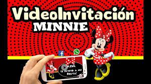 Video Invitacion Digital Animada Minnie Mimi Youtube